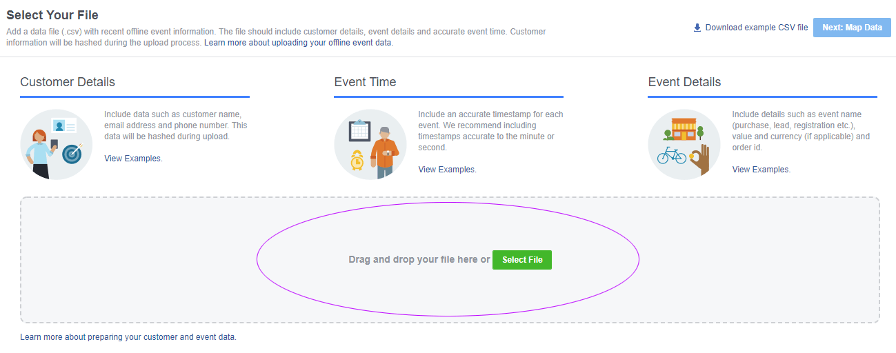API, data onboarding, offline conversion, offline event set