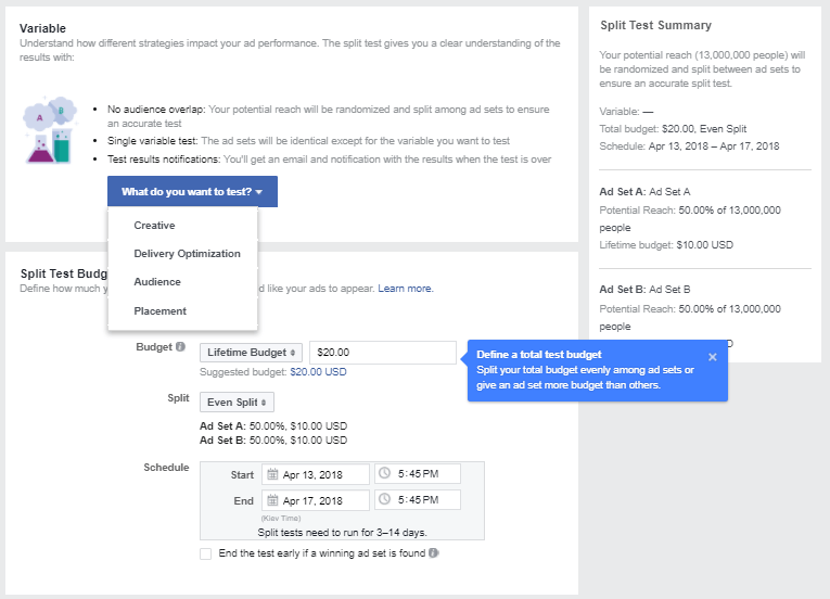 Facebook Split Tests: To Trust or Not To Trust