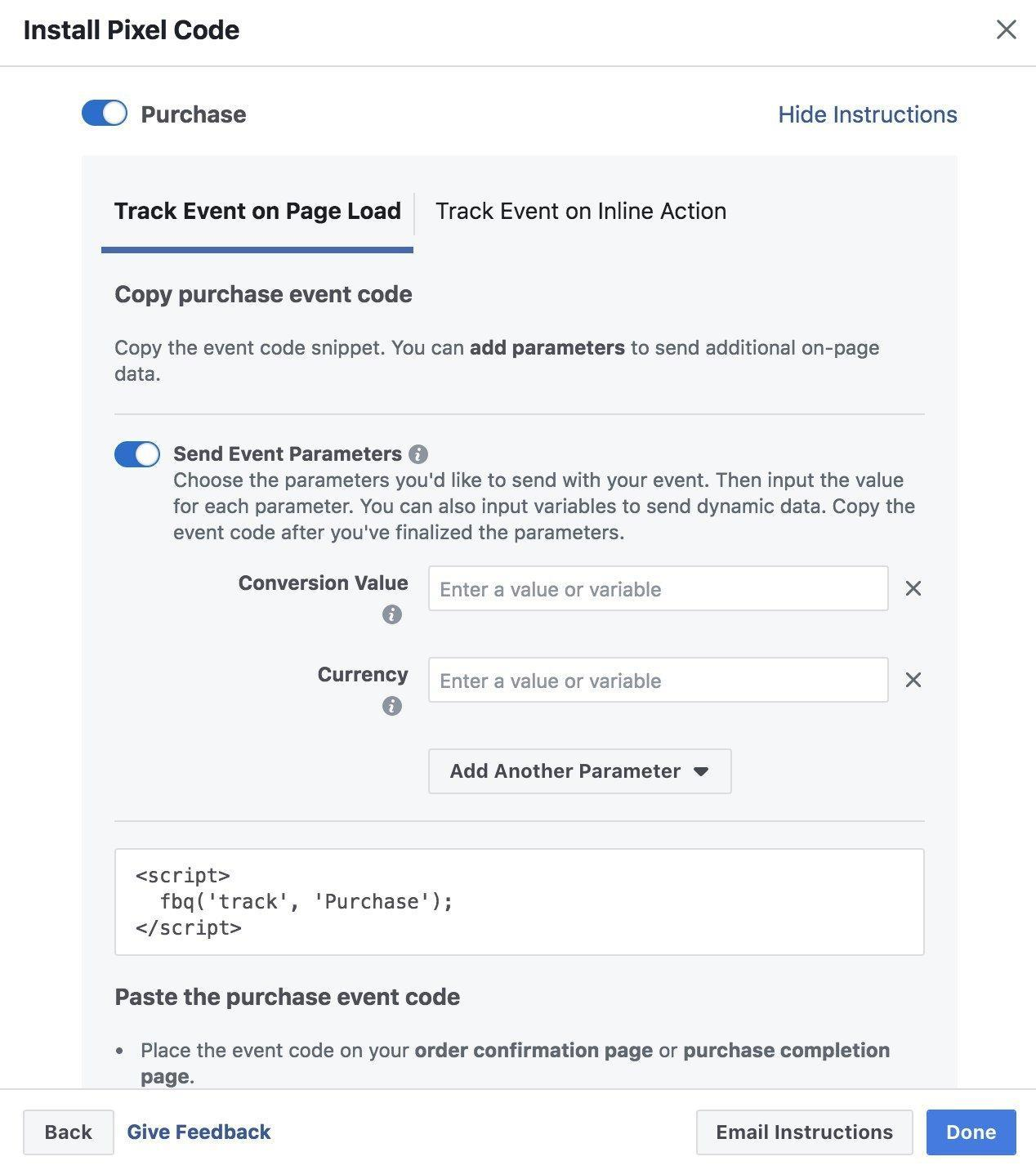 Pass Parameters to Facebook Pixel Events via Google Tag Manager