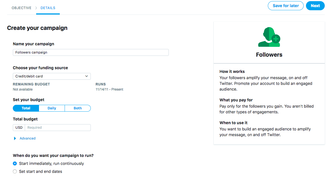 Guide to Twitter Ads: How To Launch an Ad Campaign